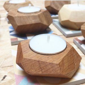 جا شمعی طرح ماریا , سایت سوران , گلدان چوبی , جاشمعی , دکوری چوبی , مصنوعات چوبی