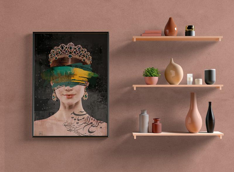 تابلو دیواری مدل ملکه رنگ ها , دیجیتال آرت , تابلو دیجیتال آرت , جدیدترین مدل تابلو دیواری , تابلو دکوراتیو , فروش تابلو مدرن برجسته , سایت سوران , تابلو دیواری مدل شیک