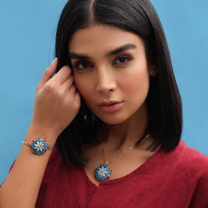دستبند نقره مدل اصفهان , زیور آلات شیشه ای , گردنبند , دستبند , تابلو نقاشی , گردنبند نقره مدل اصفهان